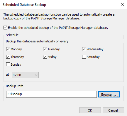 PoINT Storage Manager Database Recovery + Backup